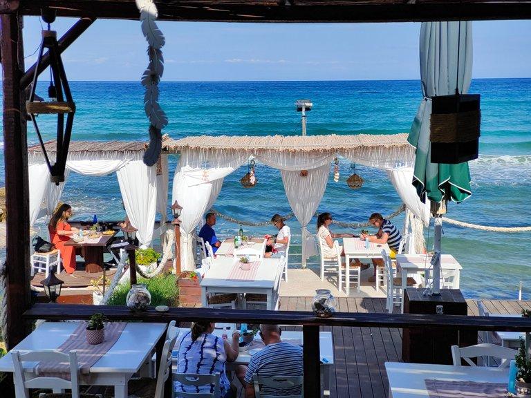 A Beach Restaurant on Zakynthos