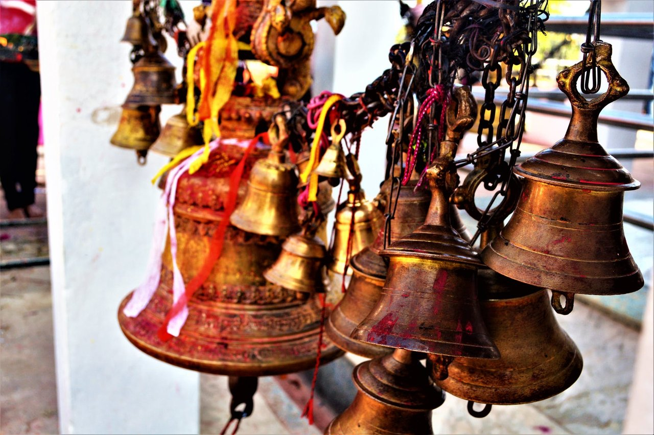 The temple is filled with Bells.