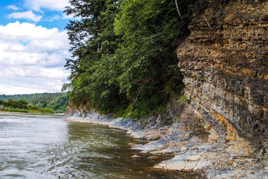 Rocky river bank