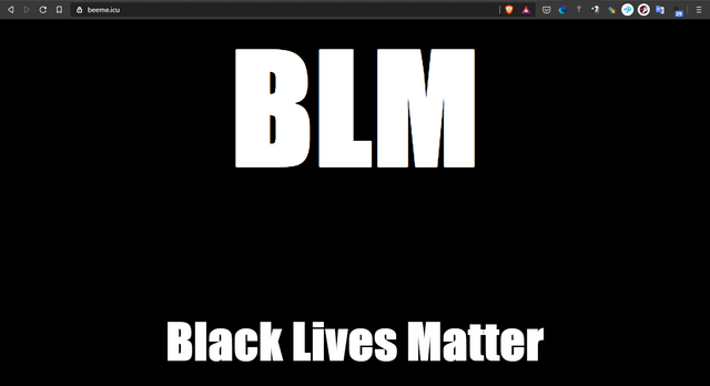 """Beeme.icu page is replaced with """"Black Lives Matter"""" message"""