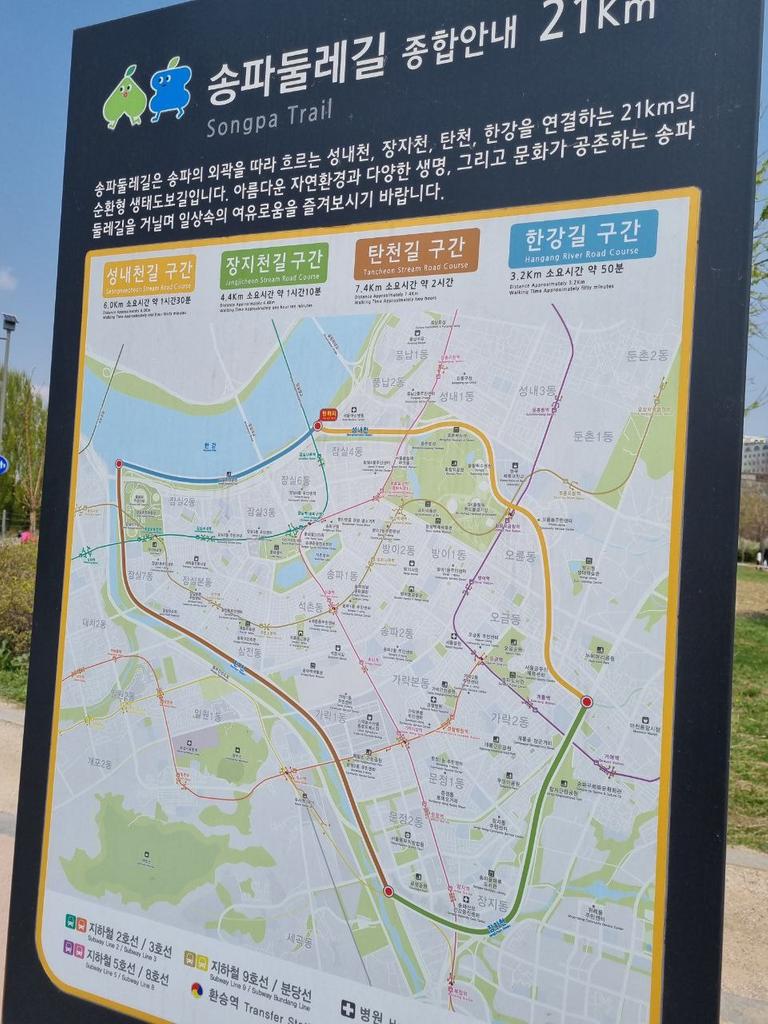 A trail map