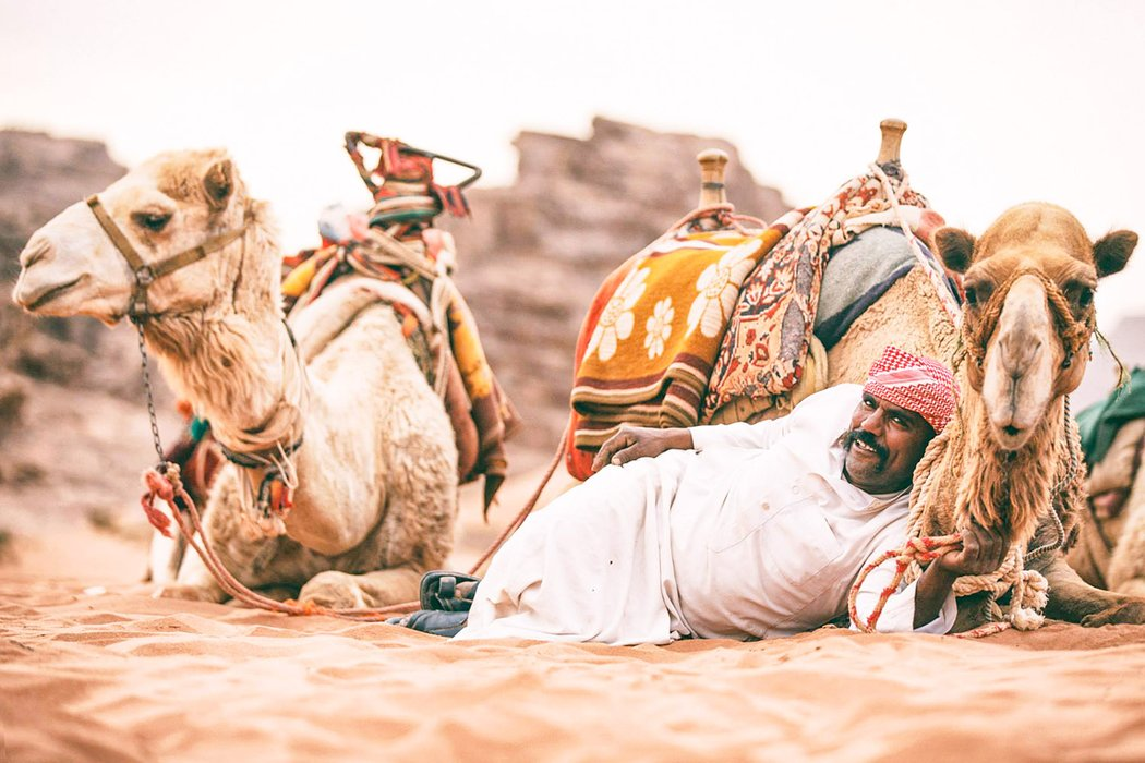 Shaban and his camels