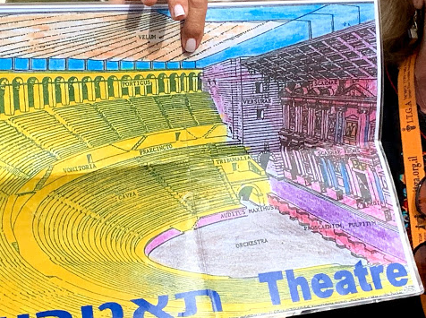 The original look of Herod's theater in Caesarea