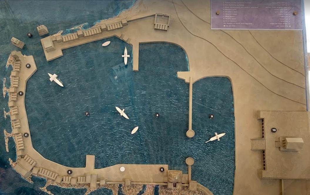 A model of Caesarea's port