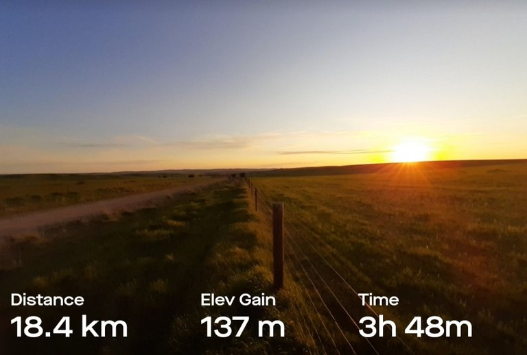 Distance, elevation, total walking time