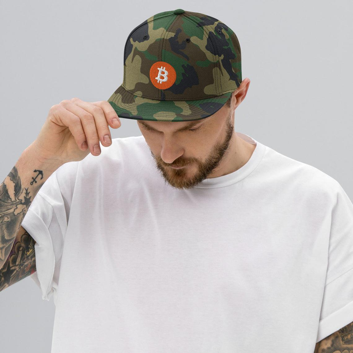 Bitcoin Logo Classic Snapback Hat - Now Available in the Shop - 20 Color Options