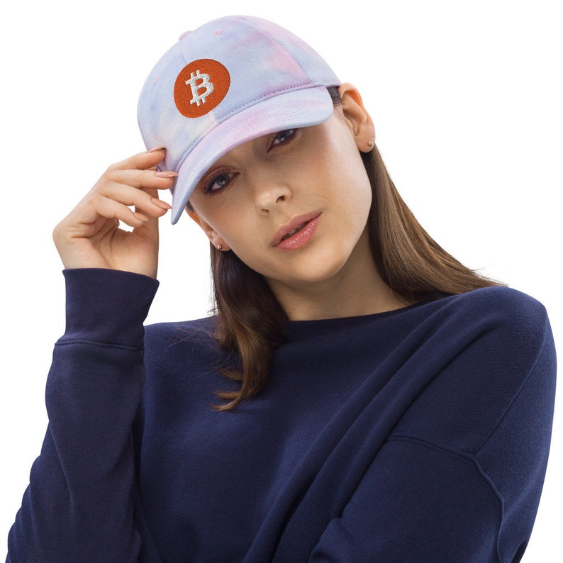 Tie Dye Classic Bitcoin Logo Hats - Now Available in the Shop - 4 Different Color Options