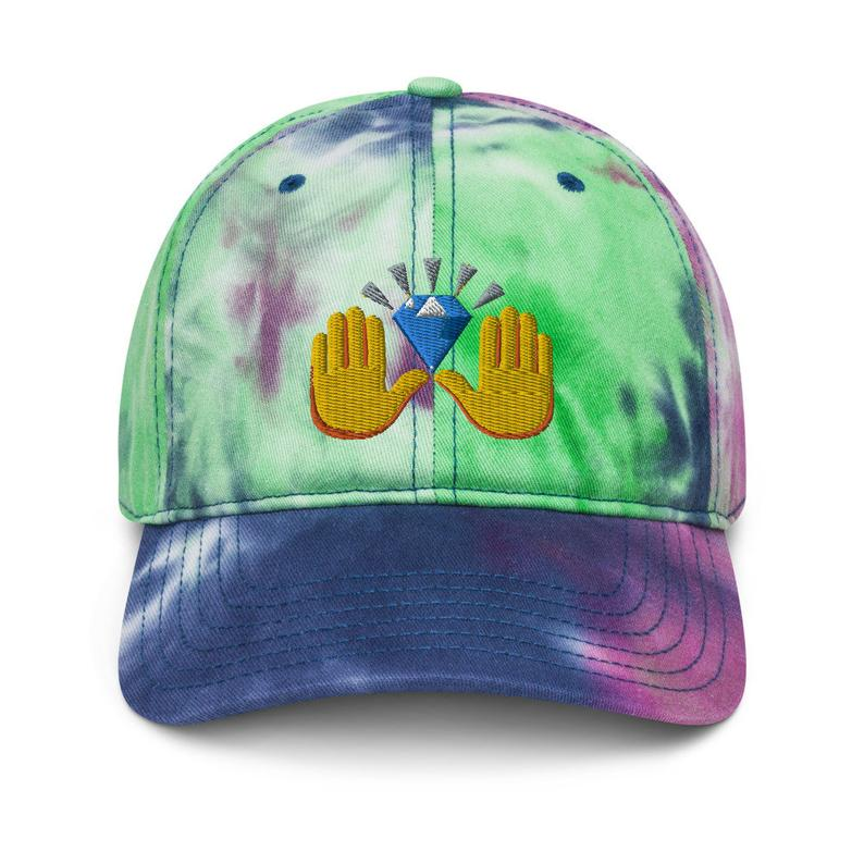Tie Dye Diamond Hands HODL Hats - Now Available in the Shop - 4 Different Color Options