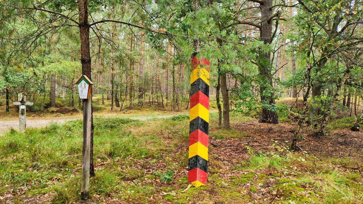 A remaining border post