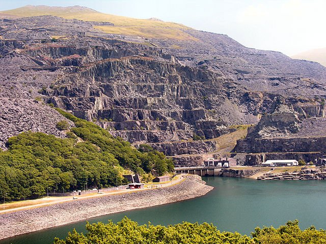 The Dinorwig Power Station in Wales.
