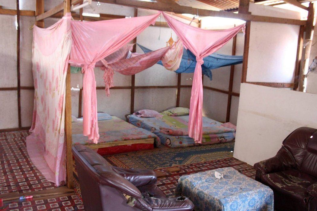"""Mama Pap hostel offered us a double bed in the attic for 2.5$. We thought,- """"Why not?"""""""