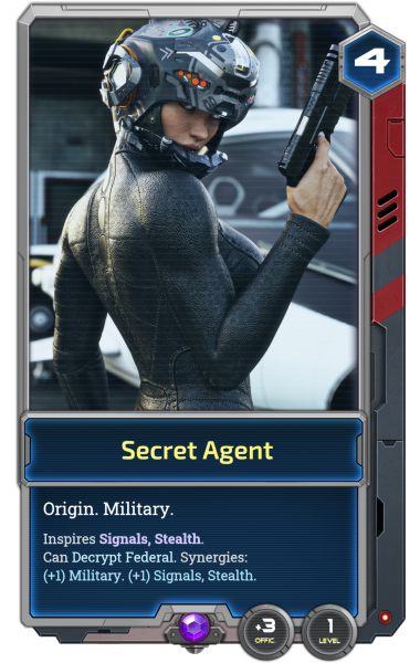 The Secret Agent is one of our seven playable Alpha Origins.