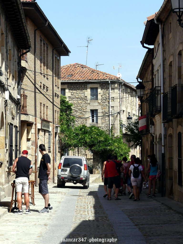 Old lively streets in summer