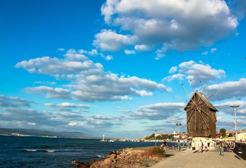 The old mill is a symbol of Nessebar