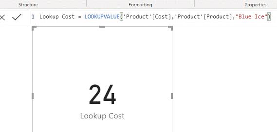 lookupvalue in dax