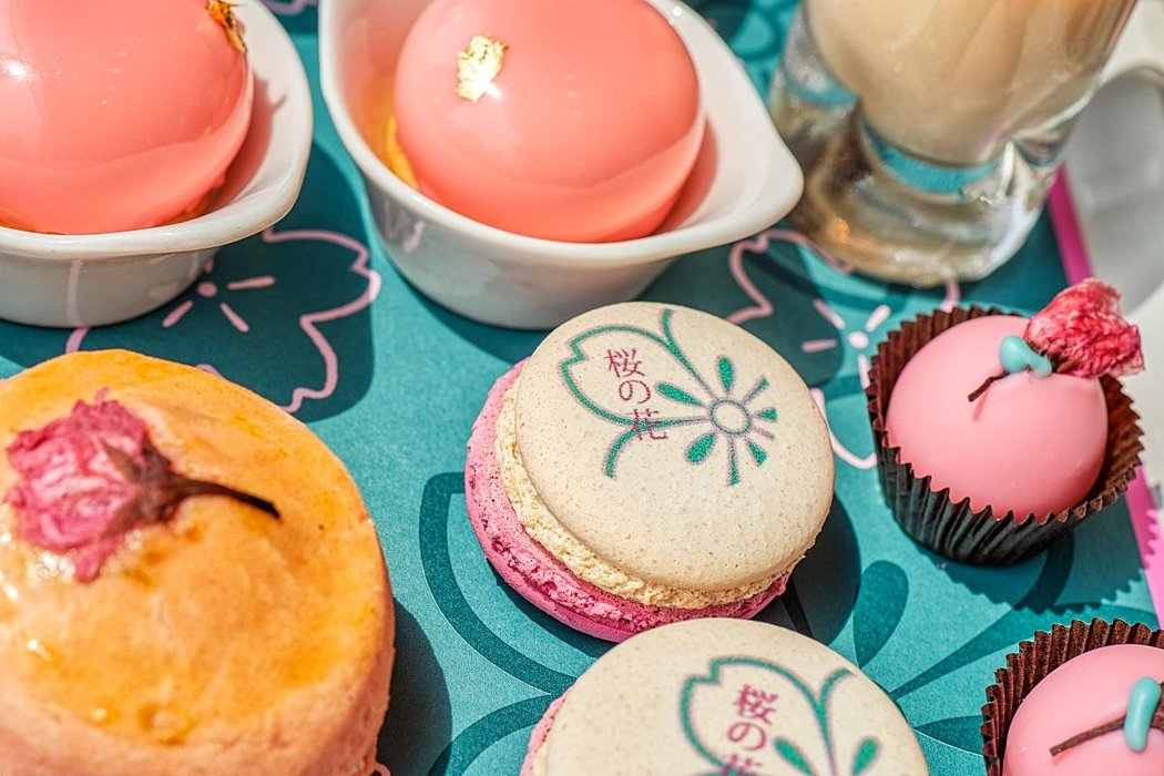 pink afternoon tea sweets