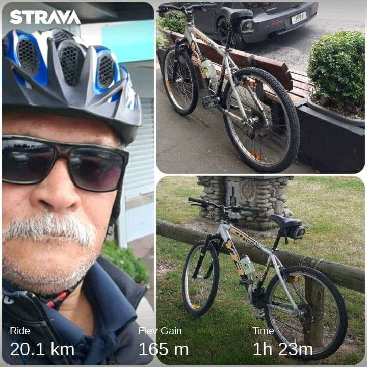 Ride Collage: Bike Pics at Village and Parkway Park
