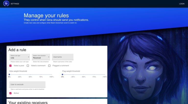 GINAbot new web portal