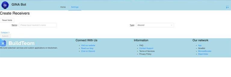 GINAbot web portal