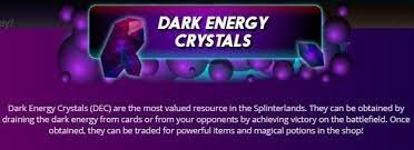 In case of victory, we are rewarded with an amount of DEC (Dark Energy Crystals)