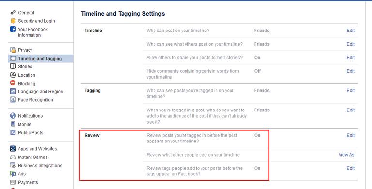 Facebook Tag Review
