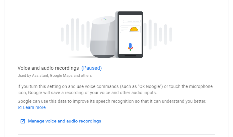 Voice and audio recordings activity