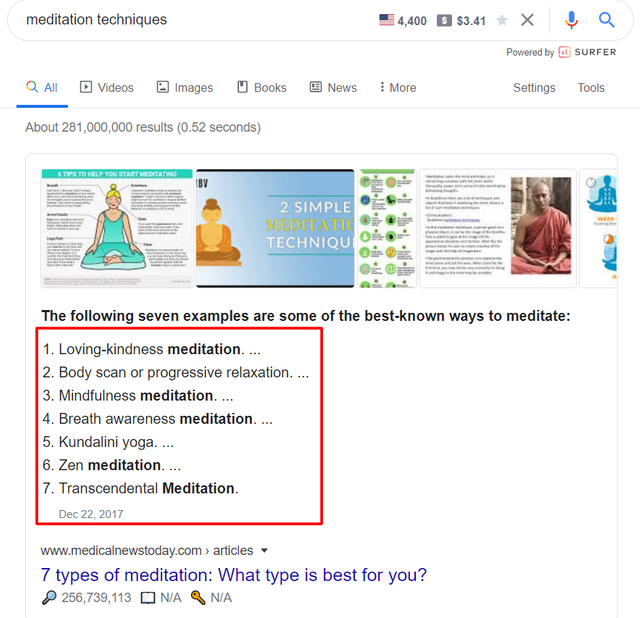 find LSI keywords in Google search
