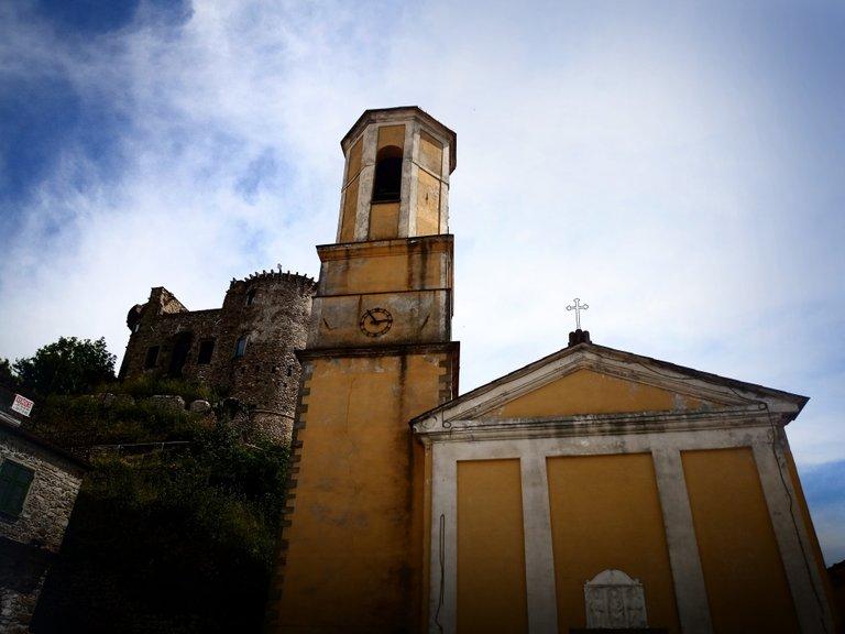 Madrignano Castle and Church