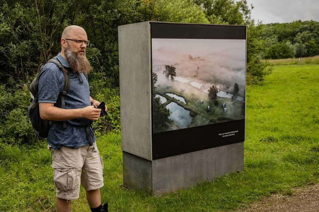 Me and my exhibited photo!