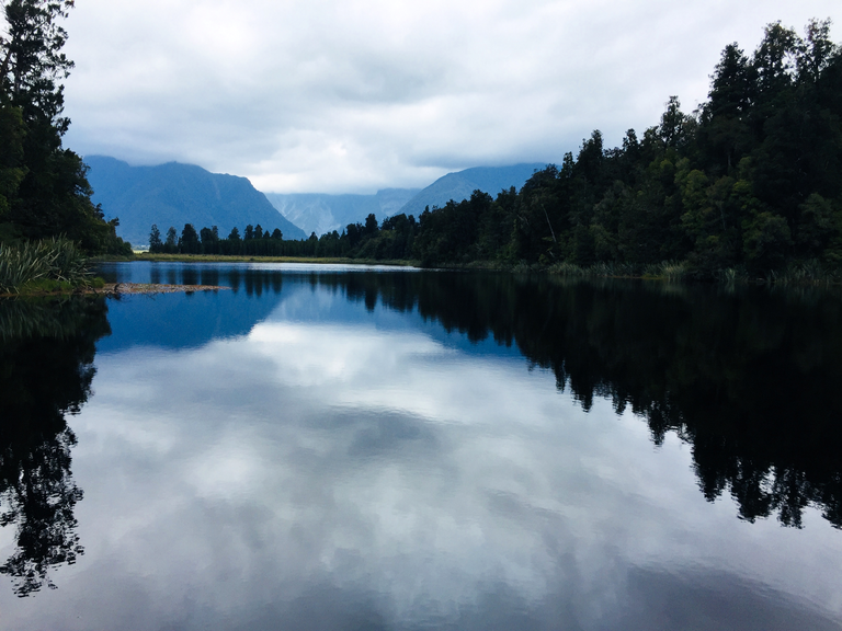 We visited Lake Matheson - weather changes here quickly!