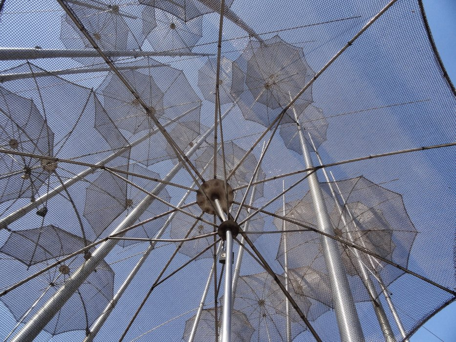 The umbrellas are art