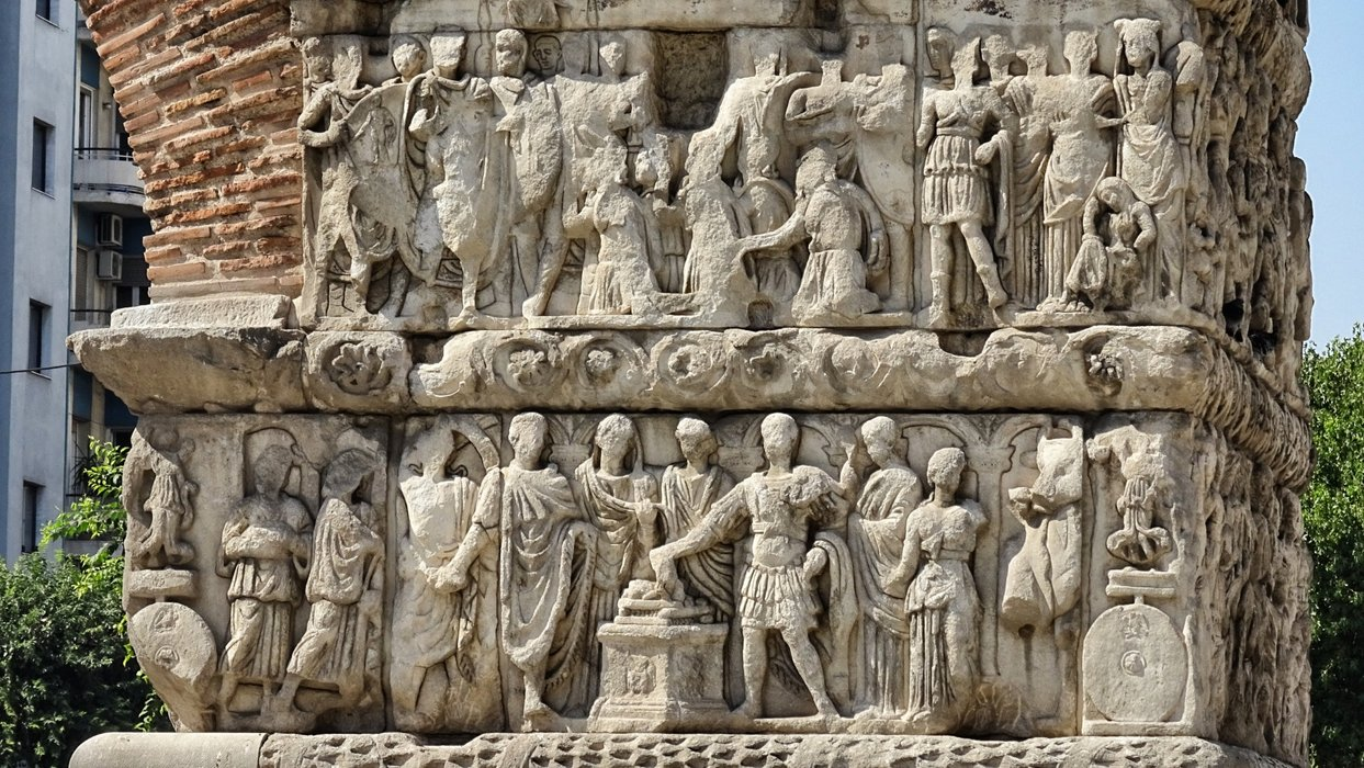 Relief artwork made of sand stone