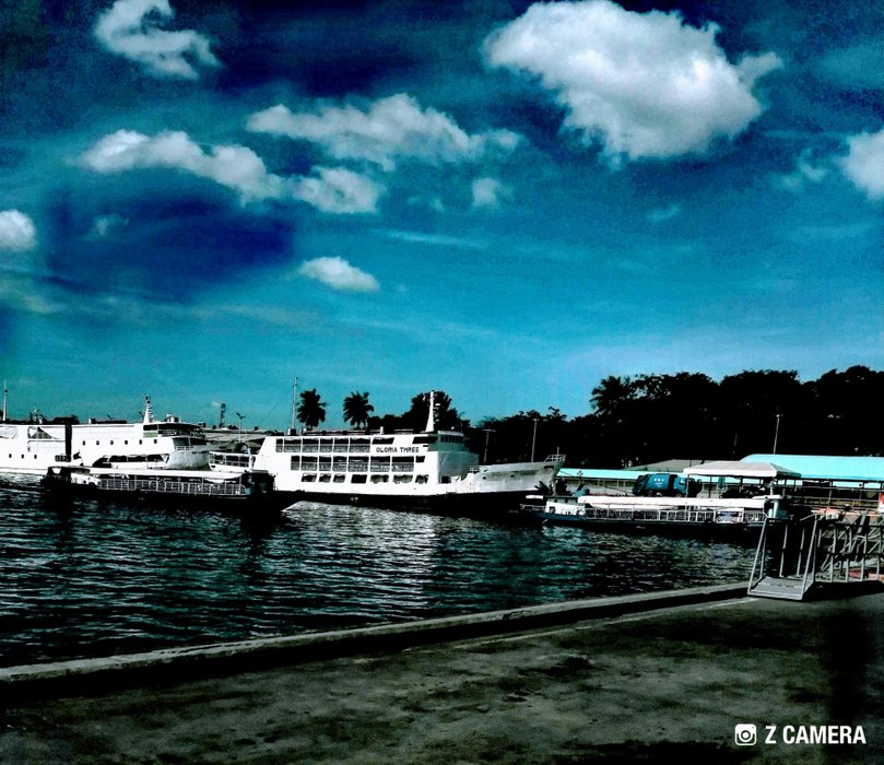 The busy port of Cebu City Philippines, where people are sailing all over the country with different destination.