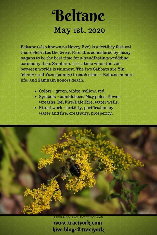 For #MicroblogMondays - Infographics for Beltane & Samhain