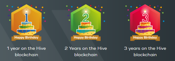 3 years on Hive blockchain award from HiveBuzz
