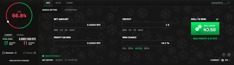 MintDice Bitcoin Dice Game BTC Dice.gif
