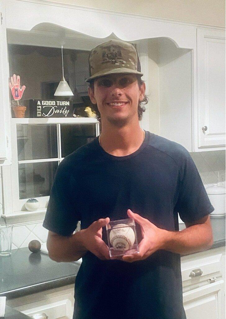 JR First Home Run Ball