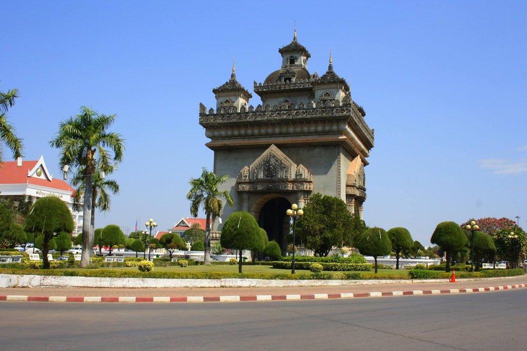 Patuxai monument is a massive Victory arch resembling Paris' Arc de Triomphe. It is certainly one of Vientiane's most noticeable landmarks.