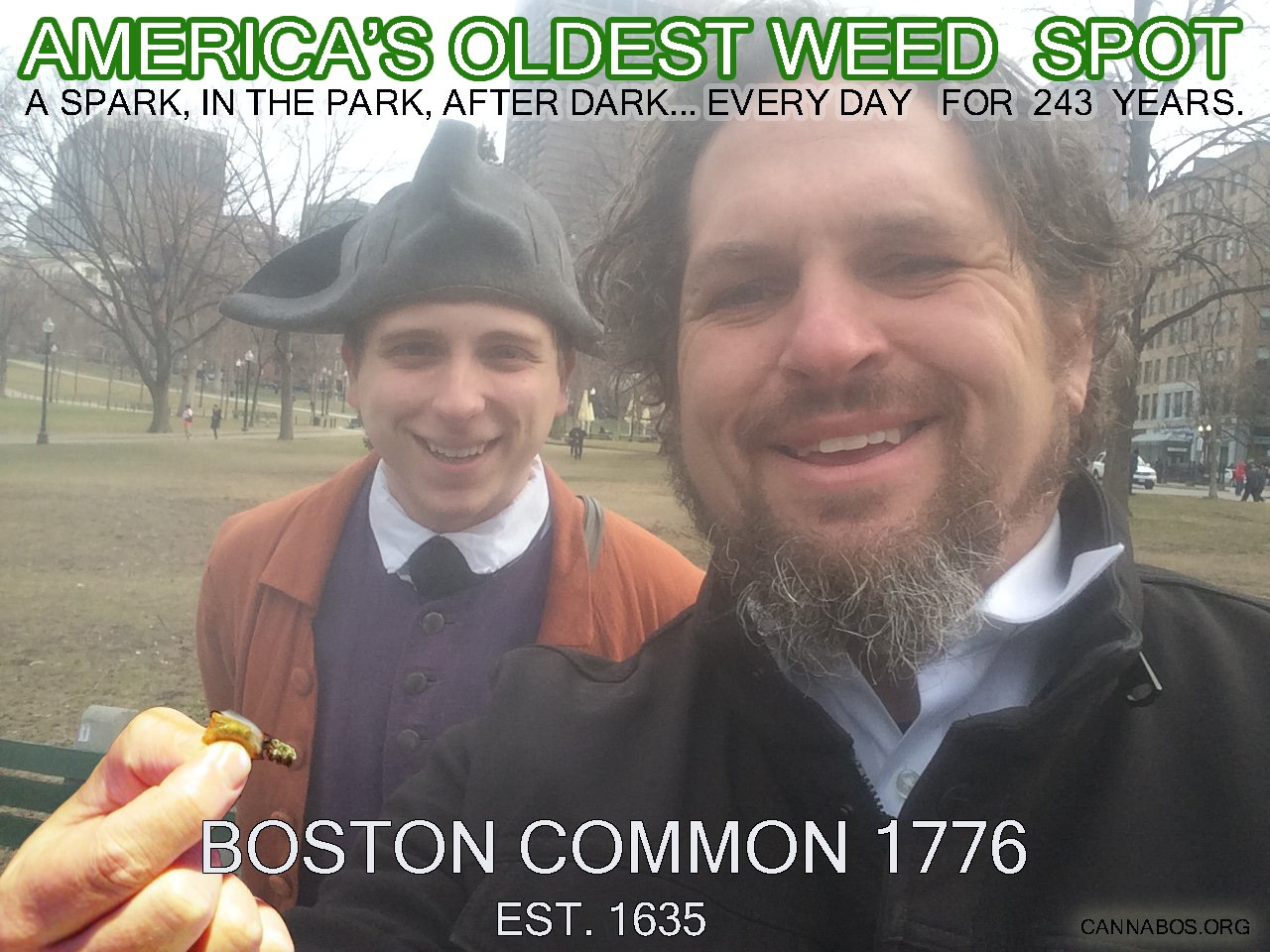 A Spark, in the Park, after Dark...Every day for 243 years. The Boston Common. (A Re-potting  from the now defunkt,  joke.io )