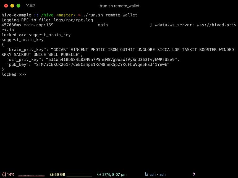 Screenshot of cli_wallet suggest_brain_key command