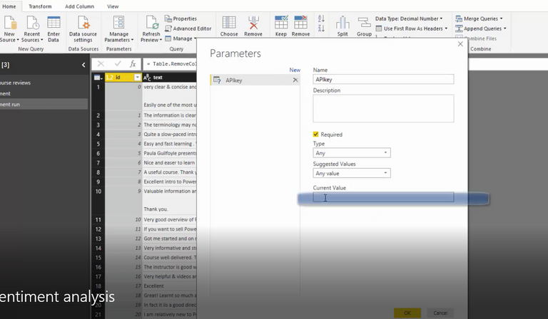 Query parameter in Power BI