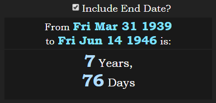 From real Golden Gate at 266° day to Donald Trump birth are 7y 76d 776.PNG