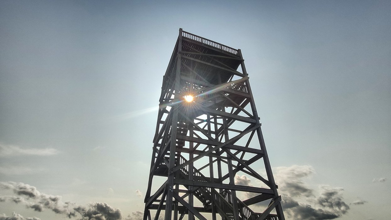 A new build watchtower, erected when they regretted tearing them all down.