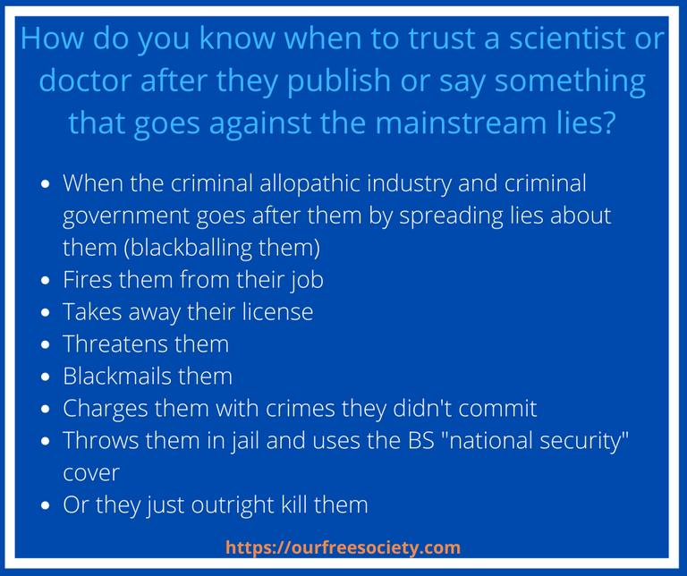 When to trust a scientist
