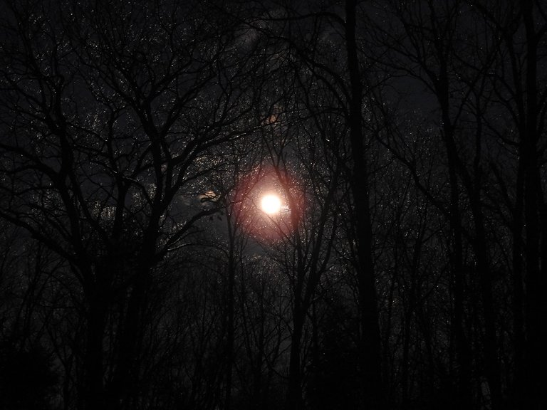 almost full Snow Moon February 2020