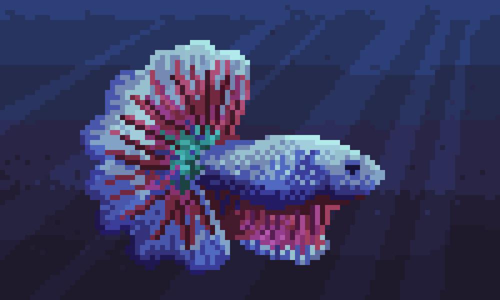 Pixelart Fish Tutorial Peakd