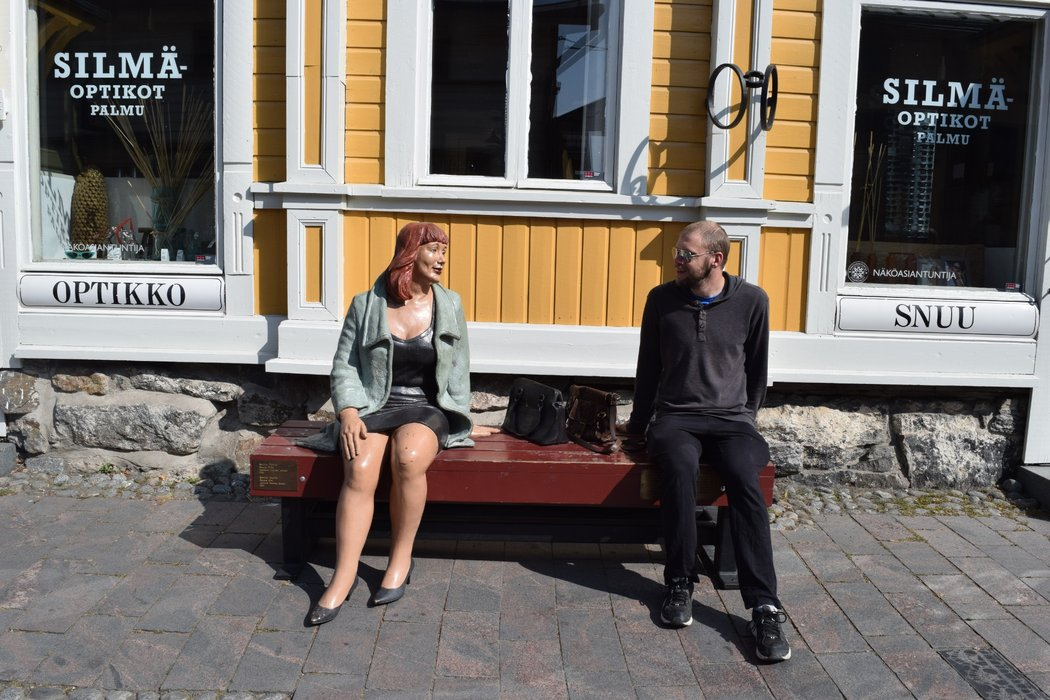 Meeting one of the locals of locals of Old Rauma
