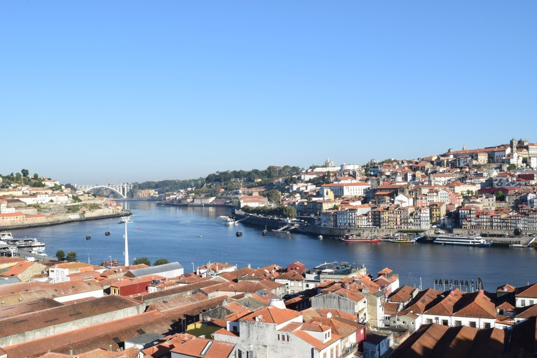 Stunning view of Porto old town and the Douro river