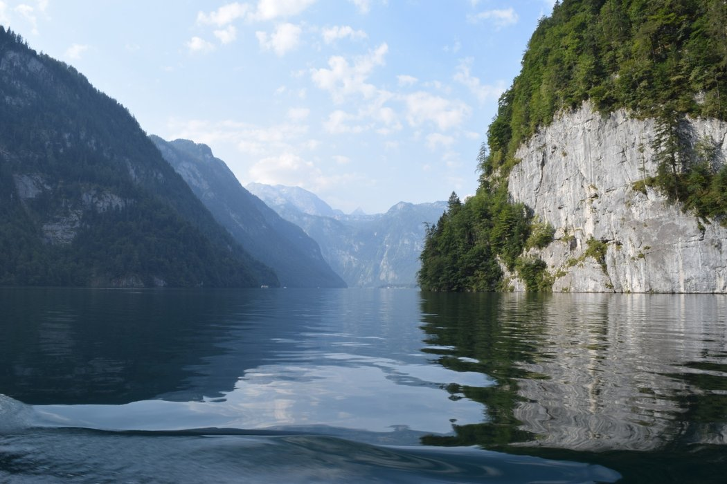 Views from the ferry to lake Obersee