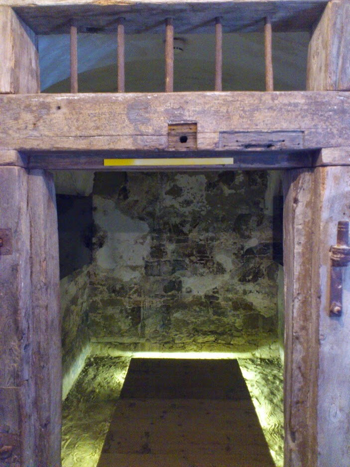 Some of the castle's prison cells were open...